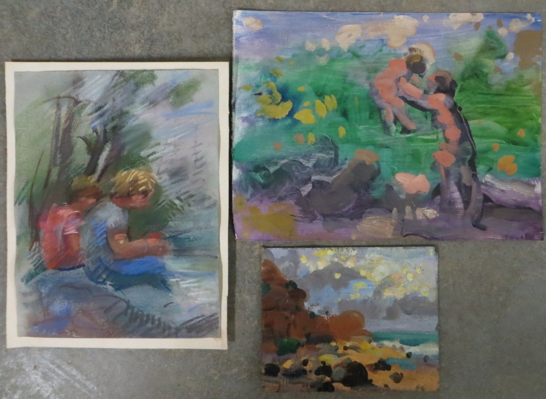Three pieces of modern art  signed R. Beck