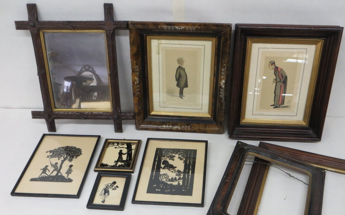 Collection of 9 various frames, prints and 1920's era s
