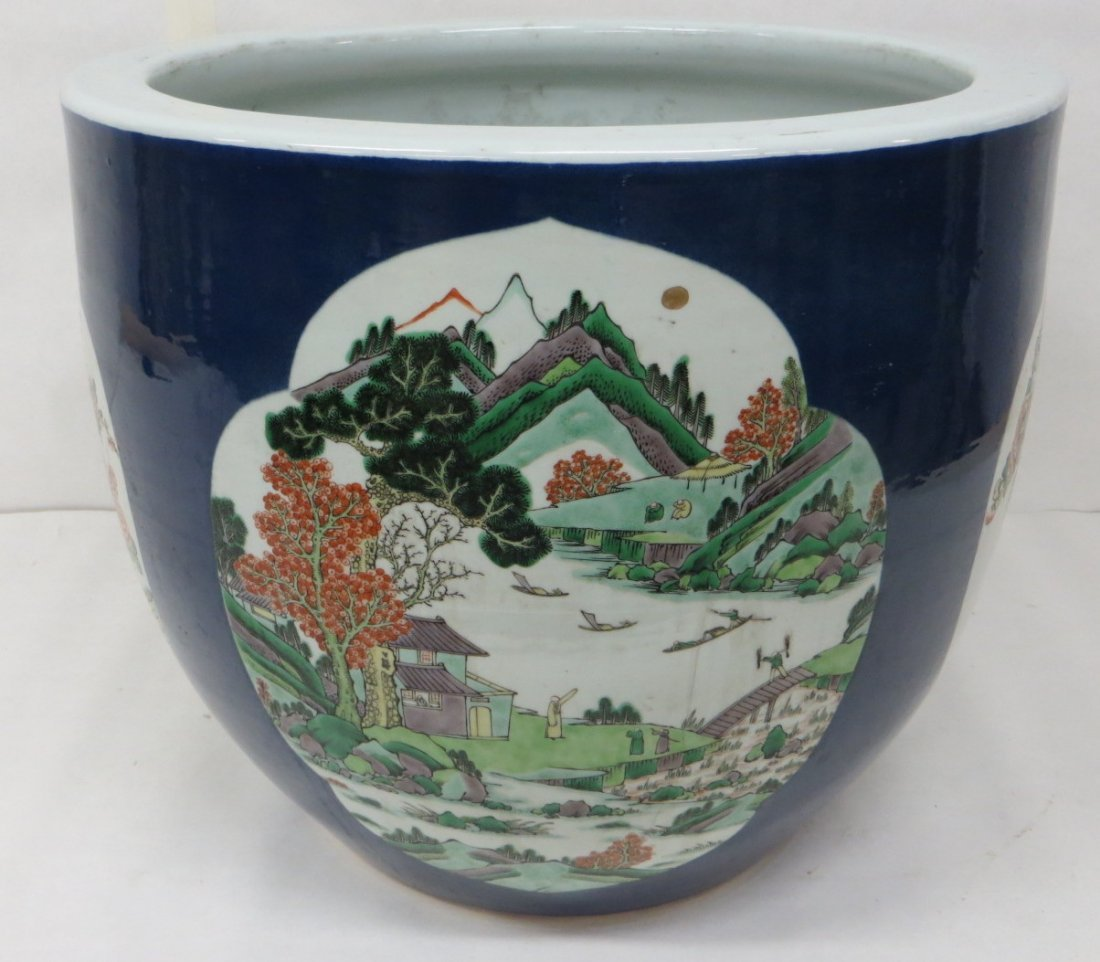 Large porcelain oriental planter, early to mid-20th cen