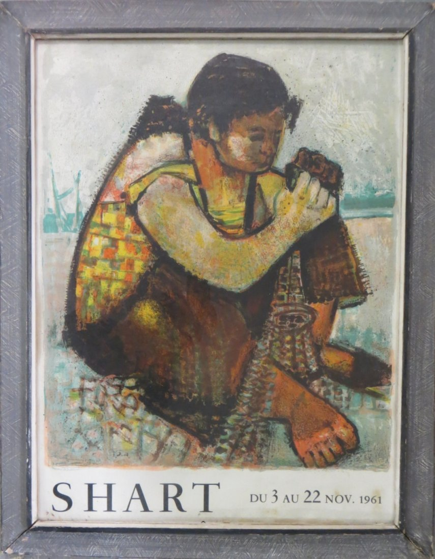 Art gallery exhibition poster signed Shart 1961