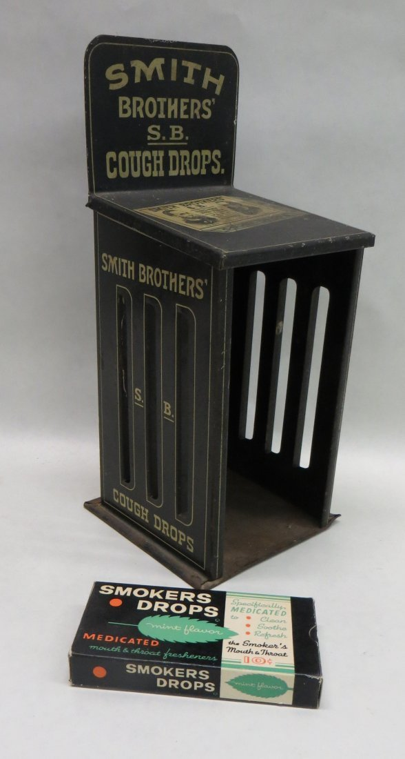 Smith Brothers' S.B. Cough Drops counter top dispenser