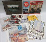 Lot of 40 Vintage Railroad ephemera including Timetabl