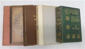 Five books related to writings of Charles Dickens inclu