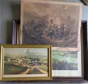 Two 19th century frames (black walnut - inside dimensio