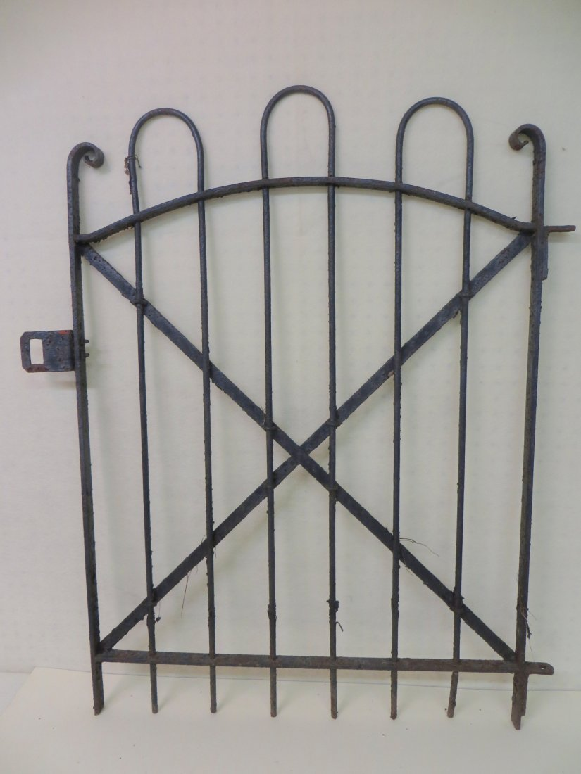 """19th century iron garden gate - 39.5""""H x 28""""H."""