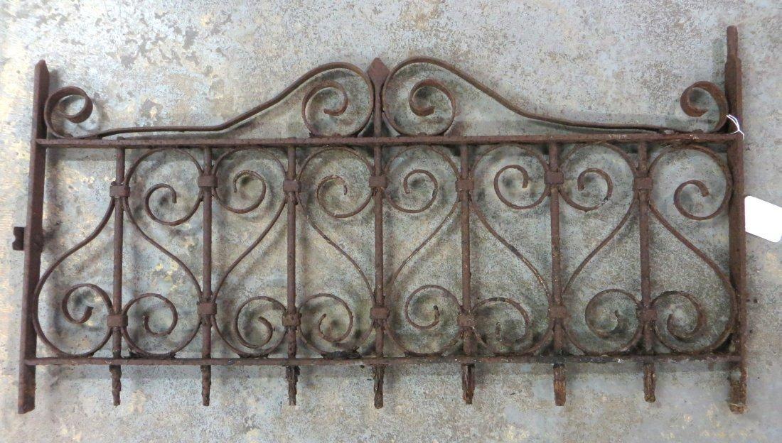 """19th century iron window grate - 17""""H x 33.25""""L."""