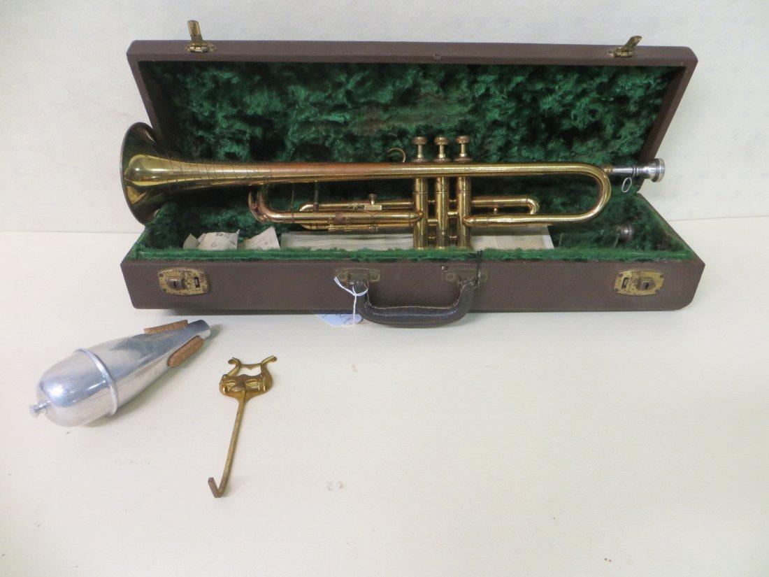 "Trumpet in original case signed Carl Fischer ""Zephyr"" N"