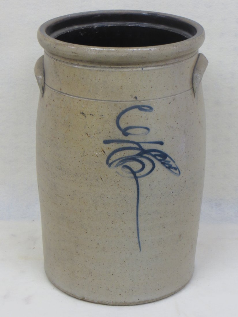 Stoneware 6 gal. butter churn crock with bee sting deco