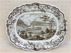 Outstanding Clews historic Staffordshire brown and whit