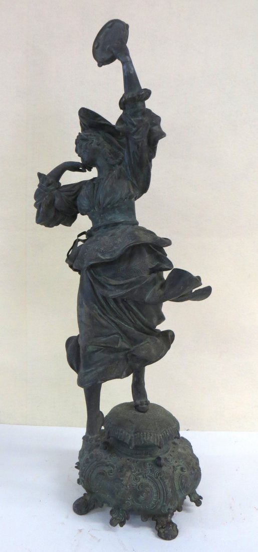 Victorian metal figure of a gypsy dancer with