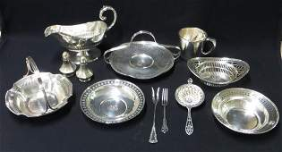 Collection of sterling silver serving articles