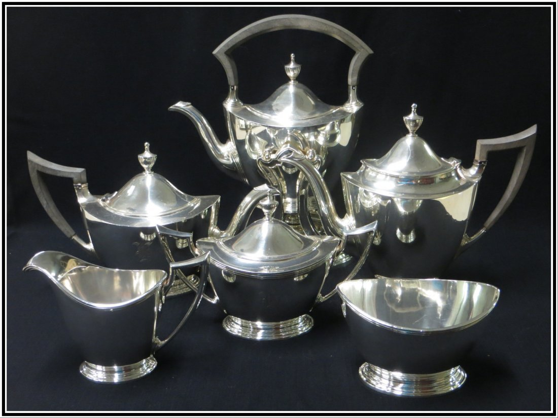 Sterling silver  6 piece tea and coffee set signed