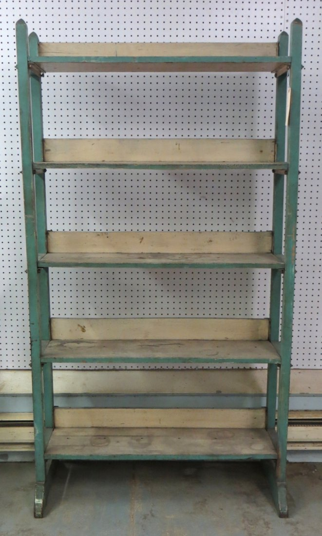 Baker's rack with 5 shelves in original green and white