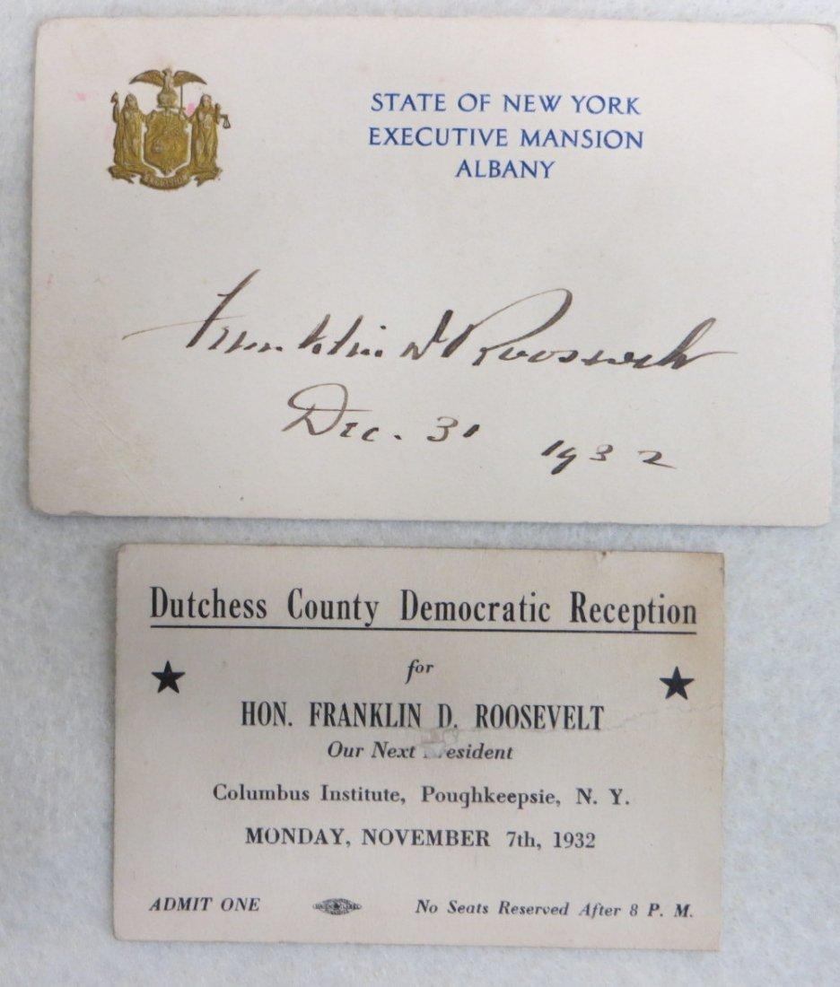 Two Franklin D. Roosevelt cards including his original