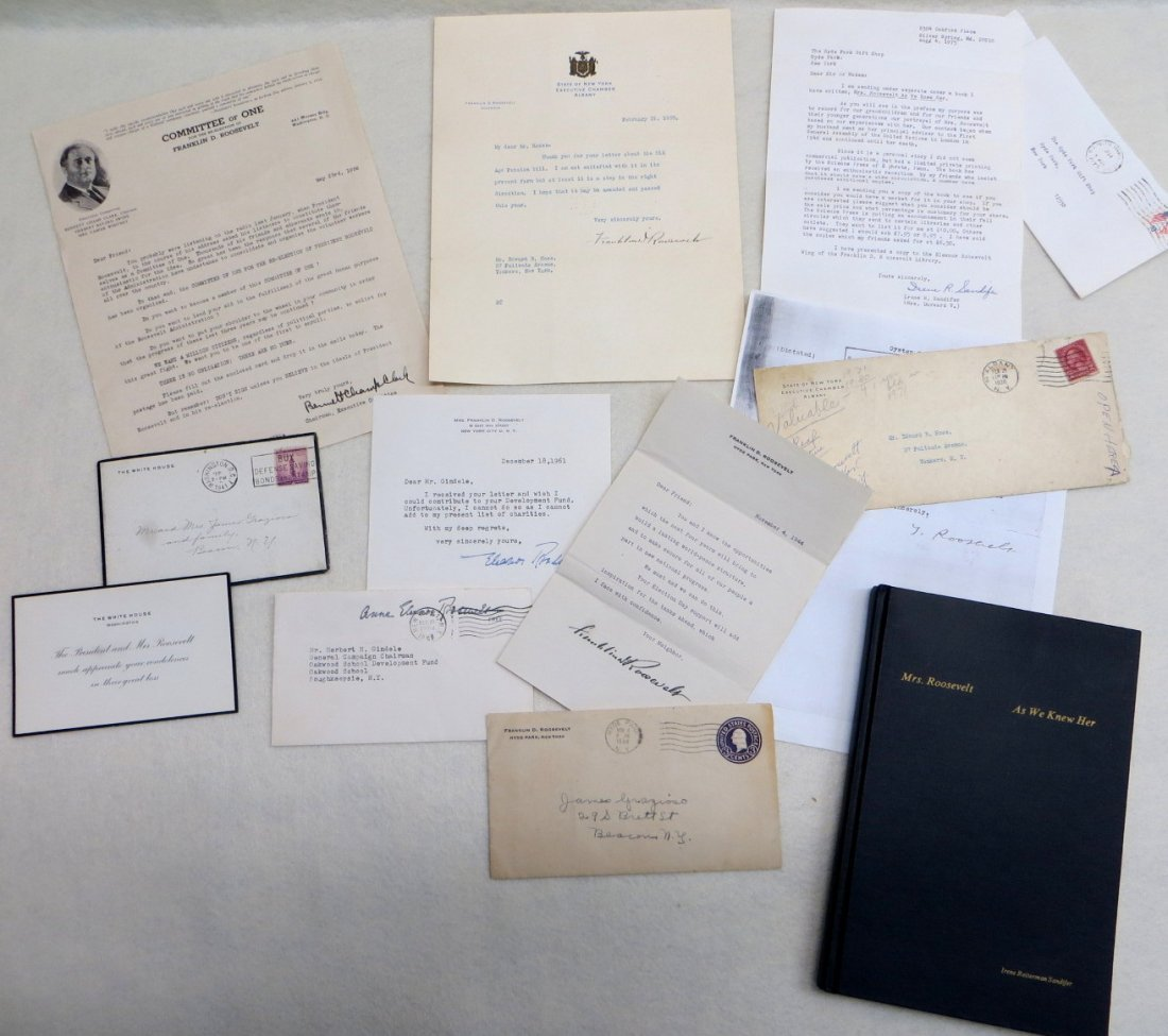 Collection of FDR and Eleanor Roosevelt documents