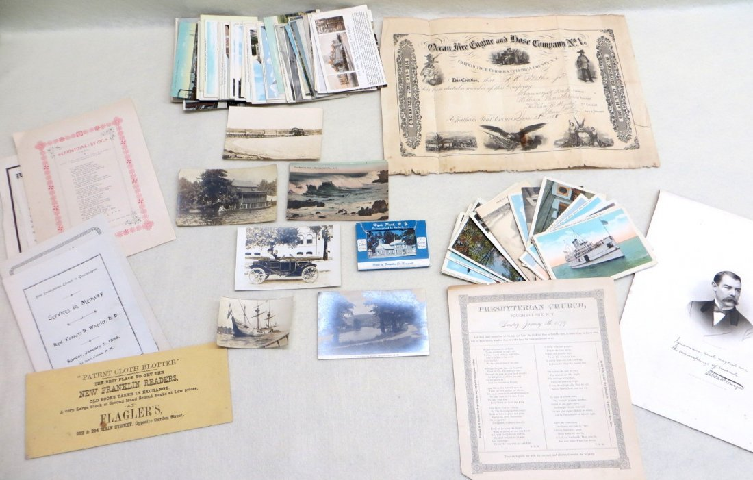 Grouping of local history documents and postcards