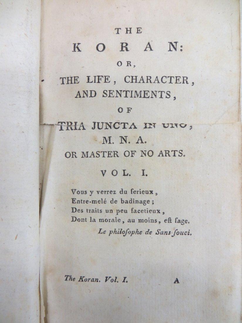 "Book ""The Koran"" in original leather cover - late 18th"