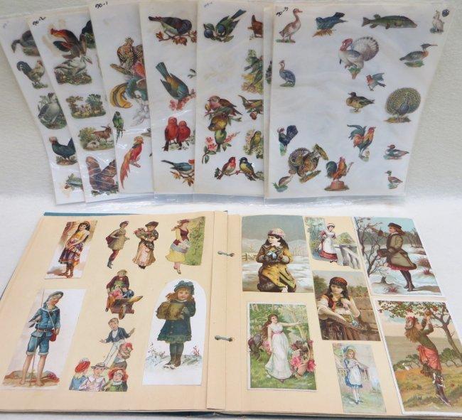 Victorian scrap book with vintage die cuts plus a