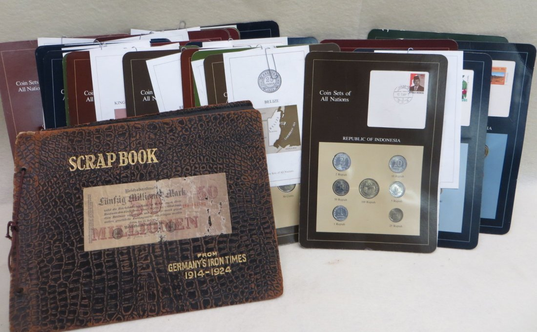 """Collection of 22 """"Coin Sets of All Nations"""", various"""