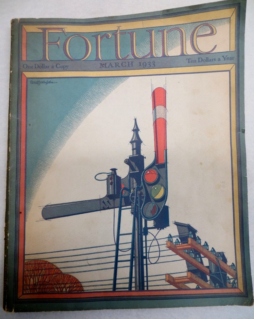 Fortune Magazine March 1933 containing a center fold of