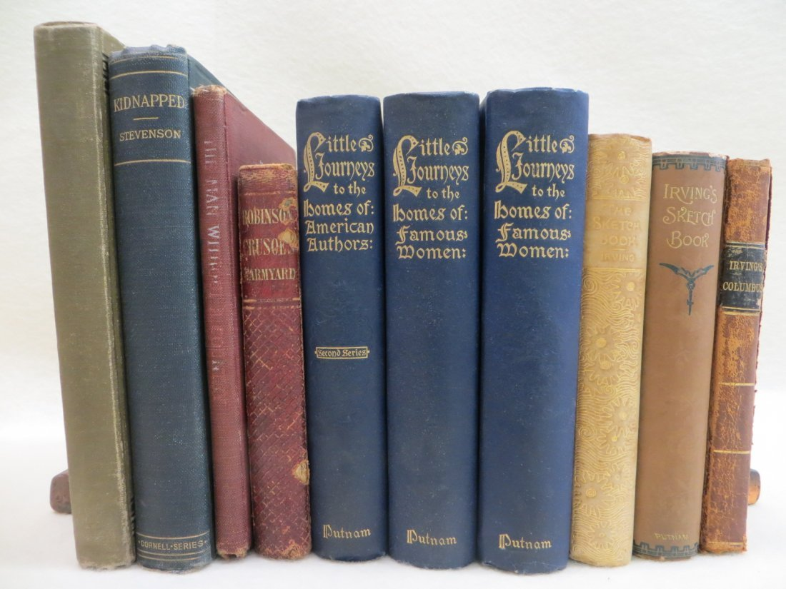 Collection of 10 miscellaneous old books including 2