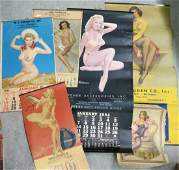 Lot of paper goods Calendars including pinups
