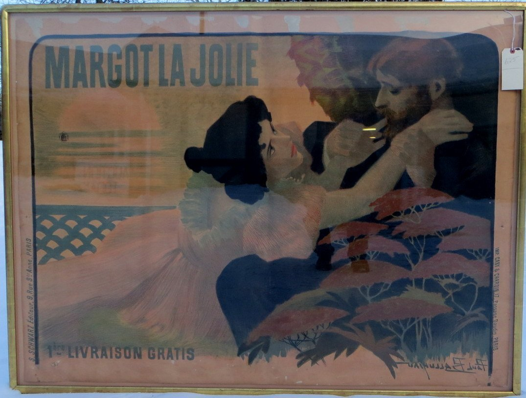 Large folio chromolithograph French movie poster