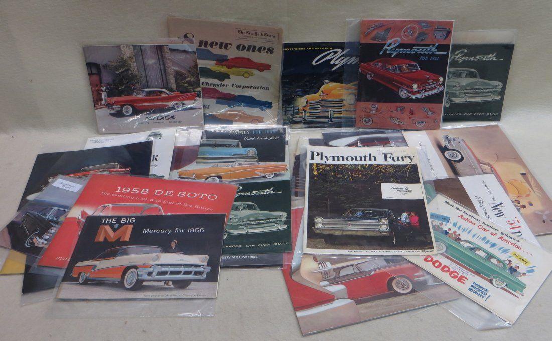 Lot of 30 automobile dealership catalog including 27