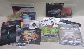 Lot of 20 automobile dealership catalogs including 7