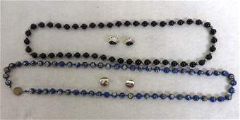 Grouping of ladys jewelry including 2 pair of signed