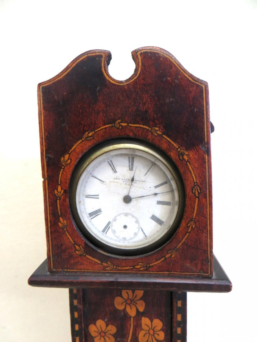 Miniature grandfather clock pocket watch holder - 2