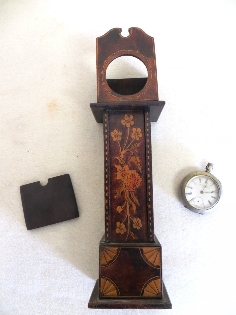 Miniature grandfather clock pocket watch holder - 4