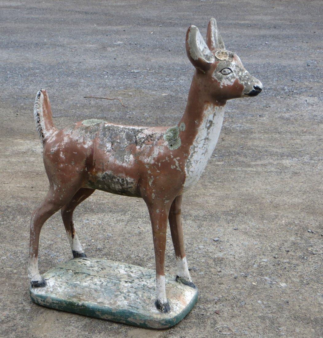 """Concrete deer lawn statue 39""""H"""