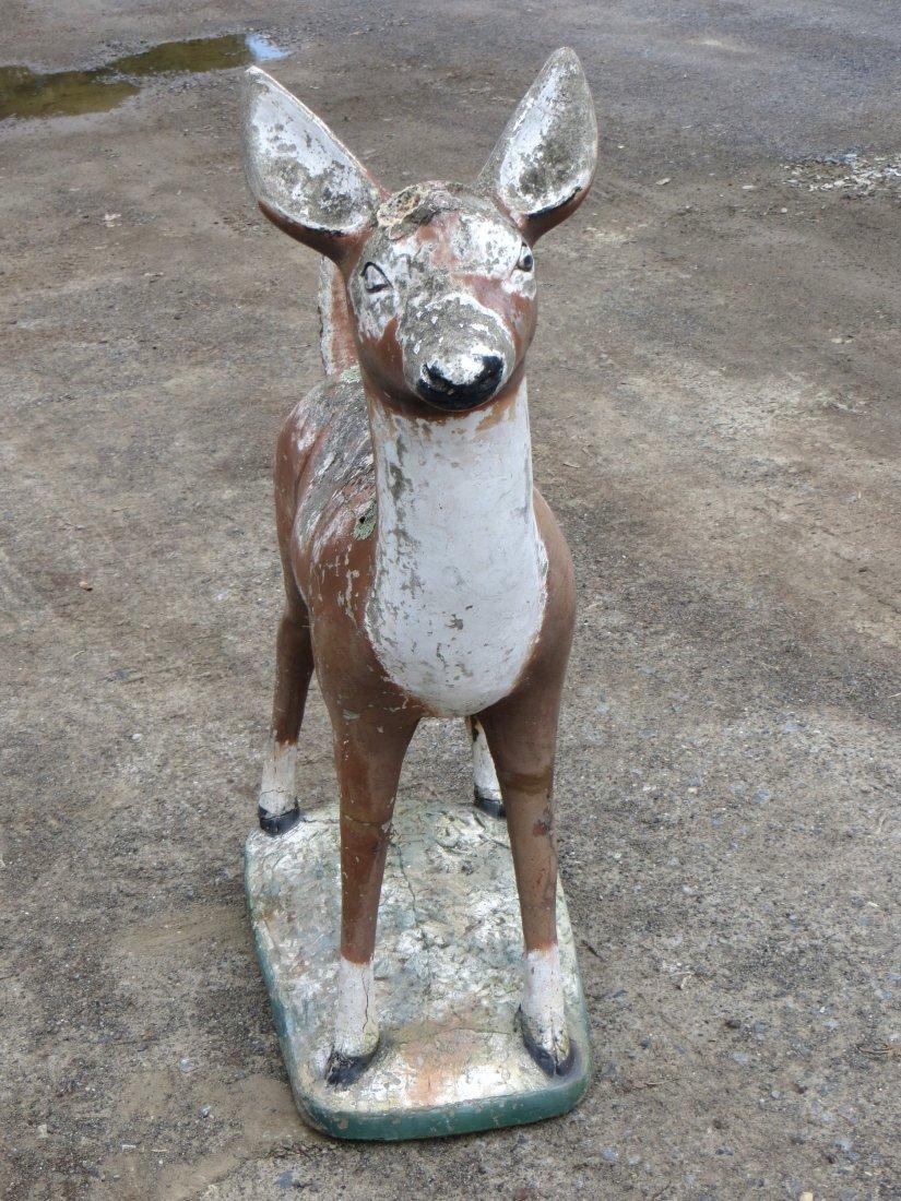 """Concrete deer lawn statue 39""""H - 2"""