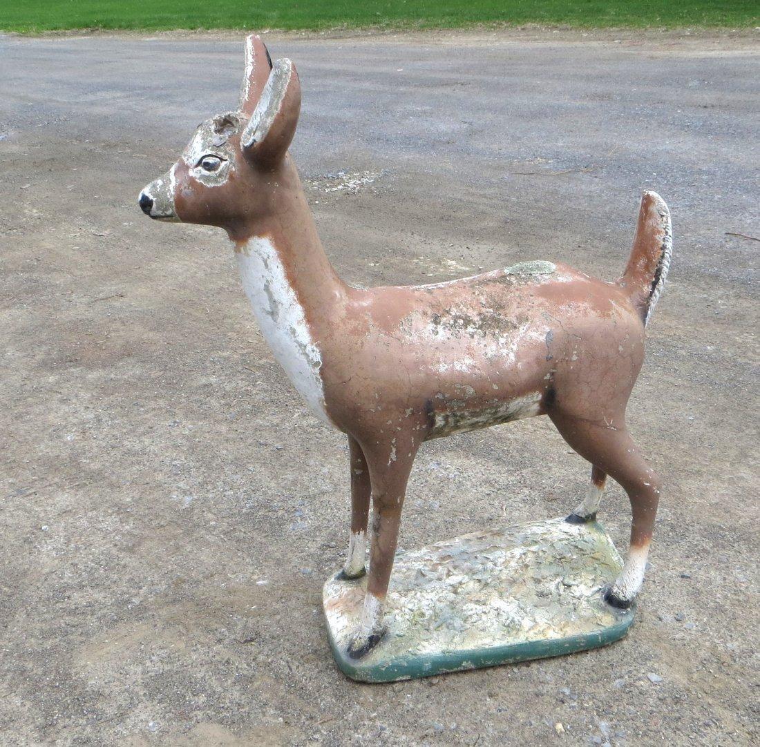"""Concrete deer lawn statue 39""""H - 3"""