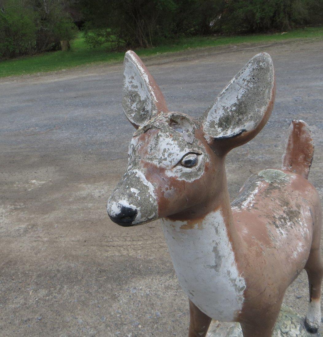 """Concrete deer lawn statue 39""""H - 5"""