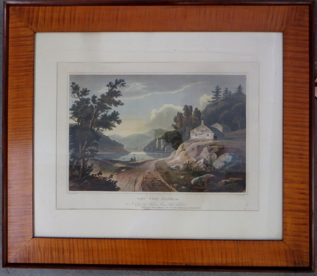 Hudson Valley large folio hand colored lithograph
