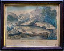 Currier and Ives hand colored lithograph entitled
