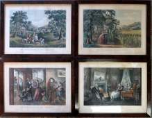 "Four Currier & Ives large folio lithographs ""The Four"