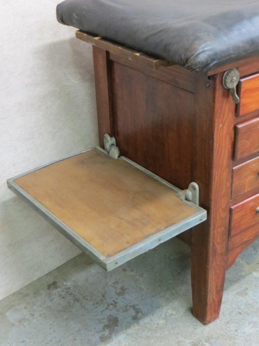 Vintage wooden medical examination table, looks similar - 2