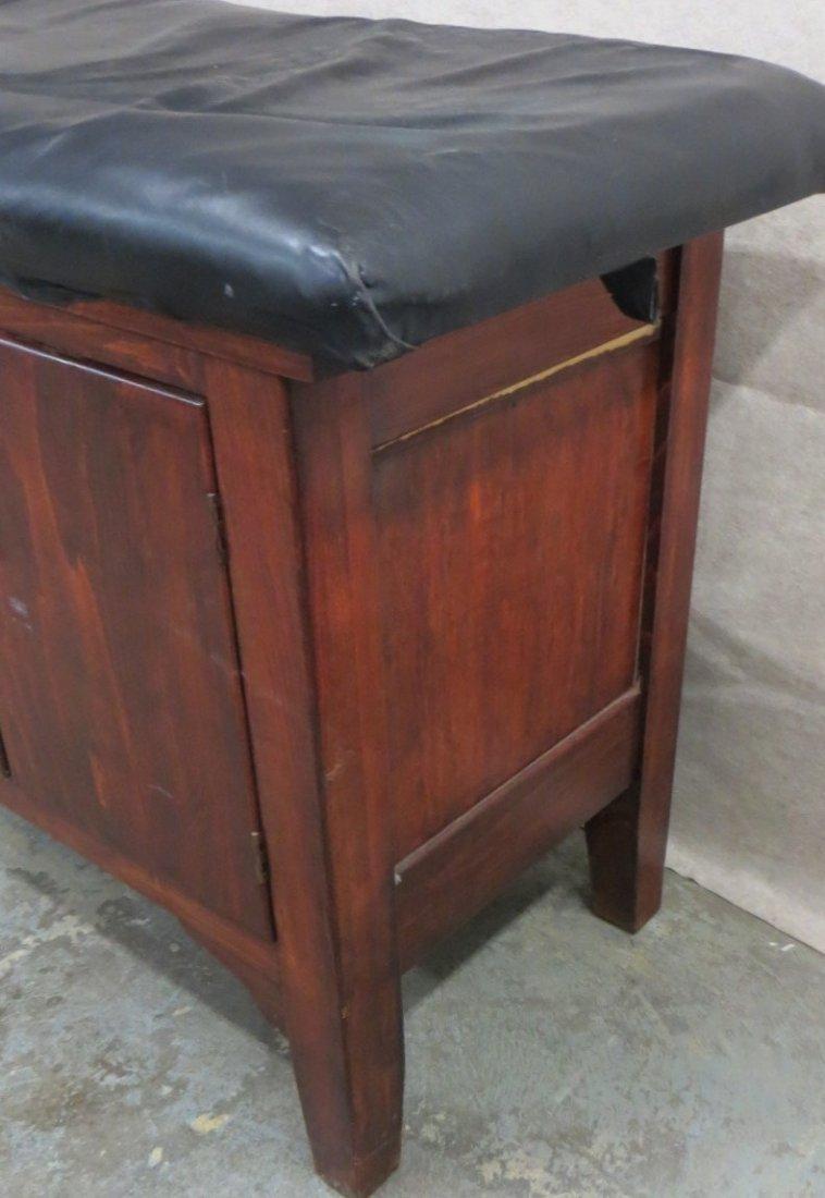 Vintage wooden medical examination table, looks similar - 4