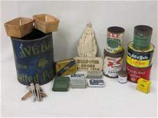 Collection of 15+ country store items including an