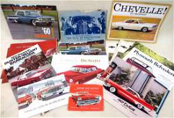 Collection of 25 automobile dealership brochures