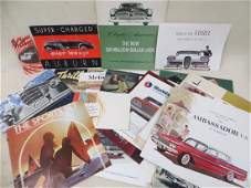 Collection of 36 automobile dealership brochures
