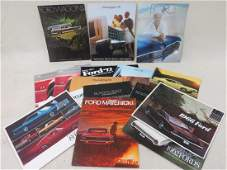 Collection of 24 automobile dealership brochures