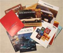 Collection of 30 automobile dealership brochures for