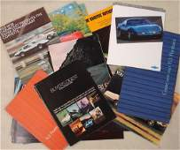 Collection of 26 automobile dealership brochures