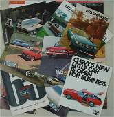 Collection of 35 automobile dealership brochures for