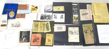 Large collection of mostly 19th century paper items