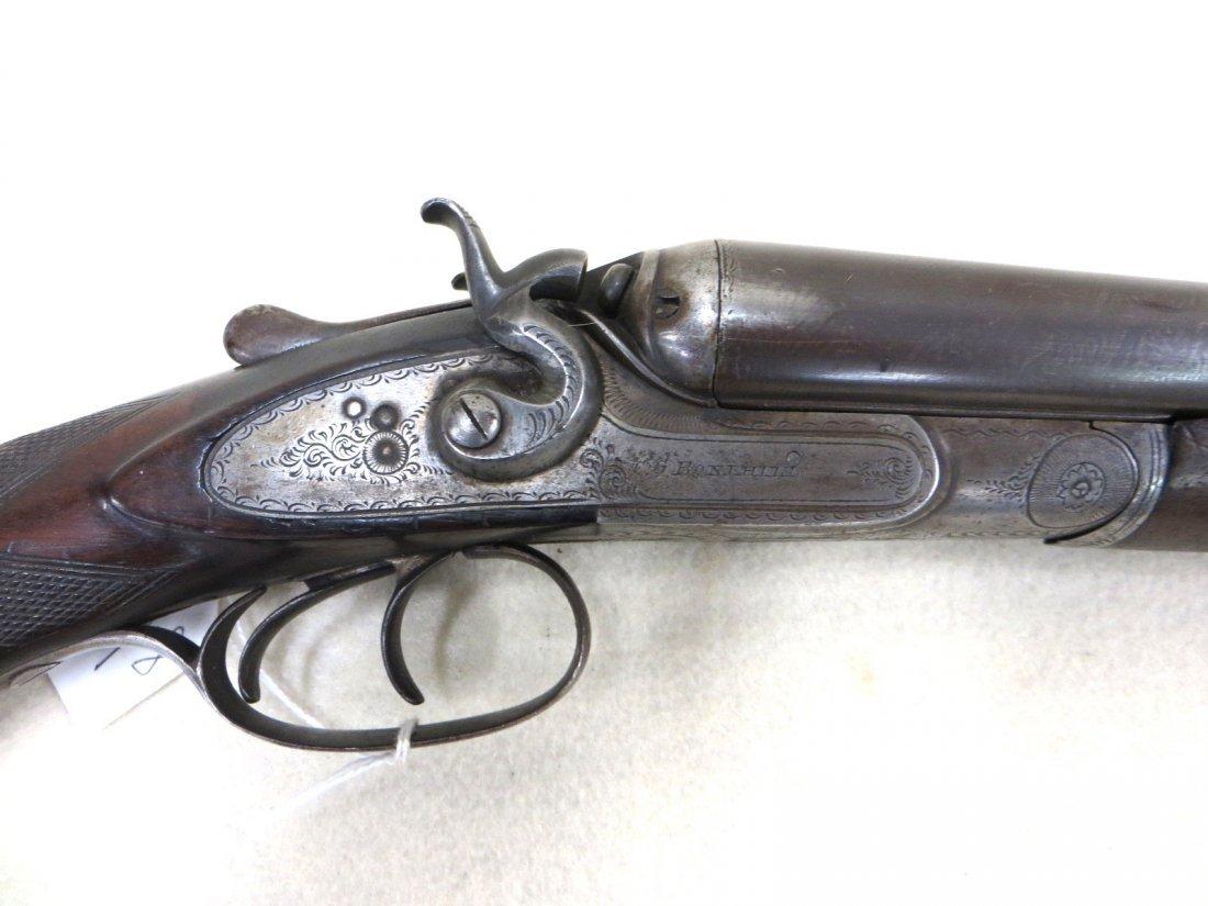 C.G. Bonehill double barrel SxS hammer 12 gauge shotgun - 3